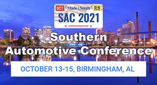 Oct 13-15, 2021: Southern Automotive Conference @ Birmingham, AL