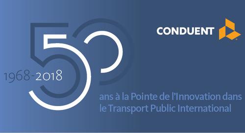 Conduent Transportation Fête Cinq Décennies d'Activité en France