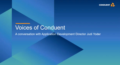 Voices of Conduent – Judi Yoder