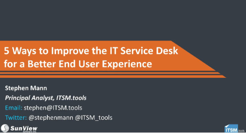 5 Ways to Improve IT Service Desk for a Better End User Experience