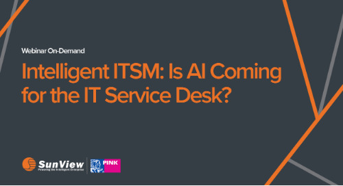 Intelligent ITSM: Is AI Coming for the IT Service Desk?