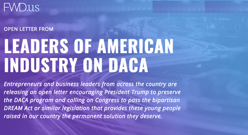 Why We Signed the FWD.us Open Letter in Support of DACA