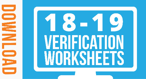 Free Downloadable 2018-19 Verification Worksheets