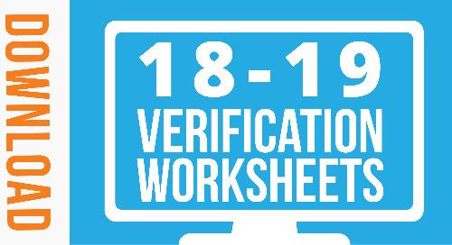 Free Downloadable 2018-19 Verification Worksheets