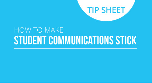 How to Make Student Comms Stick Infographic