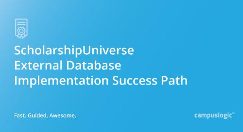 ScholarshipUniverse External Database Implementation Success Path