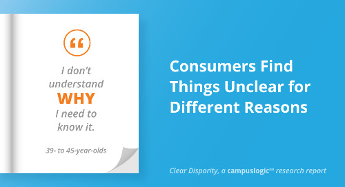 Clear Disparity: Consumers Find Things Unclear for Different Reasons