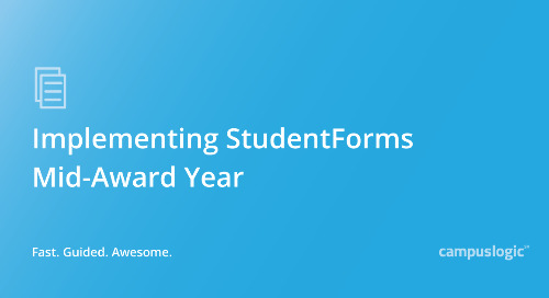 Implementing StudentForms Mid-Award Year