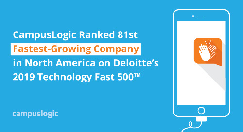 CampusLogic Ranked 81st Fastest-Growing Company in North America on Deloitte's 2019 Technology Fast 500™