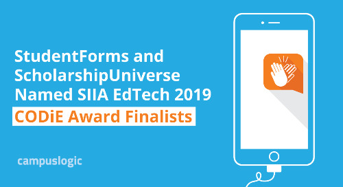 CampusLogic Student Financial Success Platform Named SIIA Education Technology 2019 CODiE Award Finalist in Two Categories