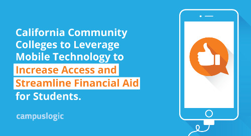 California Community Colleges to Leverage Mobile Technology to Increase Access and Streamline Financial Aid for Students