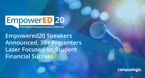 EmpowerED20 Speakers Announced, 30+ Presenters Laser Focused on Student Financial Success