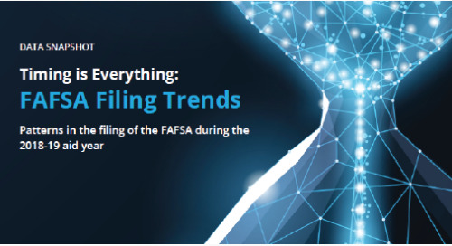 "New Data Snapshot ""Timing Is Everything: FAFSA Filing Trends"" Reveals Students Potentially Missing Out on Aid"