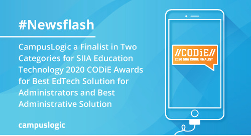 CampusLogic a Finalist in Two Categories for SIIA Education Technology 2020 CODiE Awards