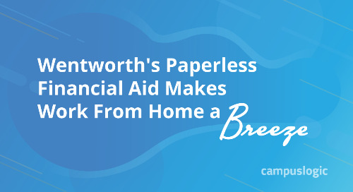 Wentworth's Paperless Financial Aid Makes Work From Home a Breeze