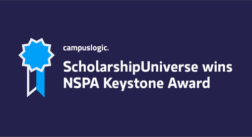 CampusLogic's ScholarshipUniverse Wins 2021 NSPA Keystone Award