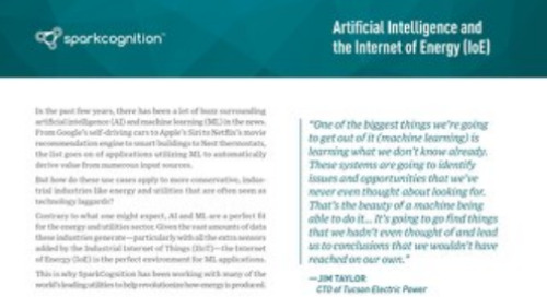 Artificial Intelligence and the Internet of Energy (IoE)