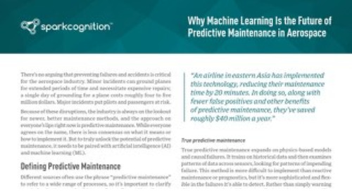 Why Machine Learning is the Future of Predictive Maintenance in Aerospace
