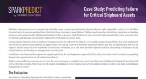 Case Study: Predicting Failure for Critical Shipboard Assets