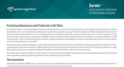 Case Studay: Predicting Maintenance and Production in Oil Wells