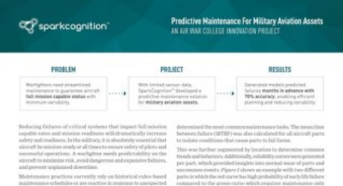 Predictive Maintenance for Military Aviation Assets: An Air War College Innovation Project