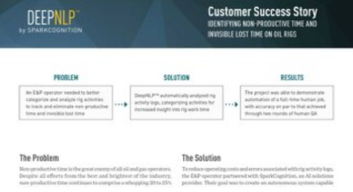 Customer Success Story: Identifying Non-Productive Time and Invisible Lost Time on Oil Rigs