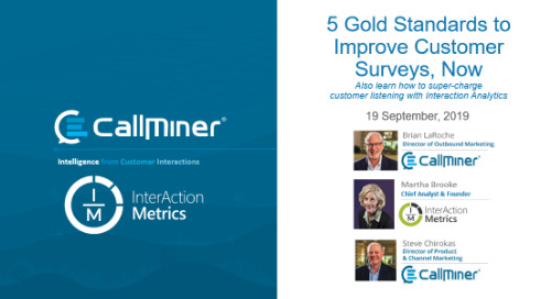 5 Gold Standards to Improve Customer Surveys, featuring InterAction Metrics
