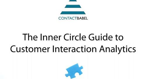 UK Inner Circle Guide to Interaction Analytics