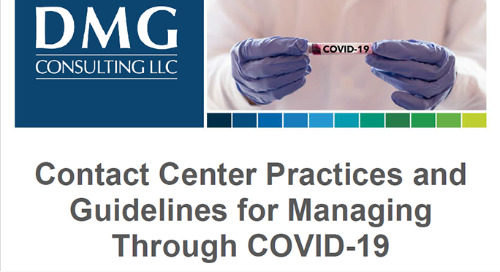 Contact Center Practices and Guidelines for Managing Through COVID-19
