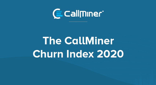 The US CallMiner Churn Index 2020