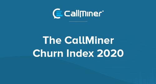 The US CallMiner Churn Index 2020
