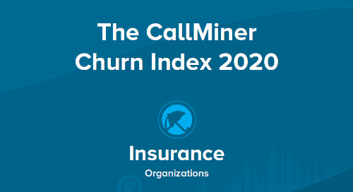 US CallMiner Churn Index for Insurance Organizations