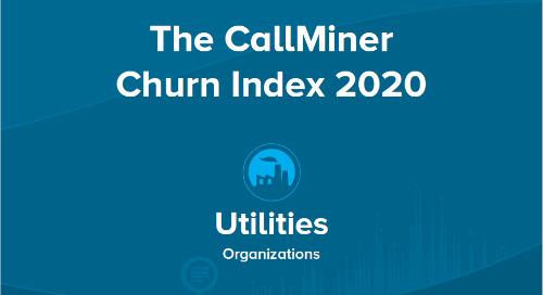 US CallMiner Churn Index for Utilities Organizations