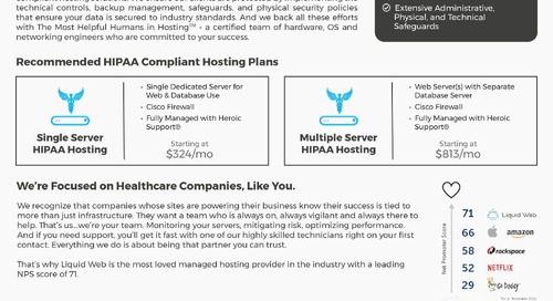 Liquid Web HIPAA Hosting Data Sheet