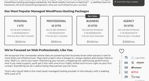 Liquid Web Managed WordPress Hosting Data Sheet