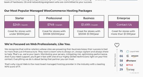 Liquid Web Managed WooCommerce Hosting Data Sheet