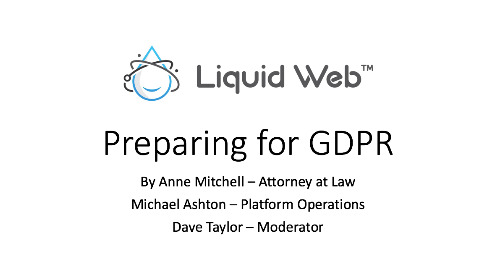 Liquid Web GDPR Podcast