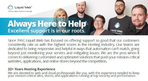 Always Here to Help | Industry-Leading Support From Liquid Web