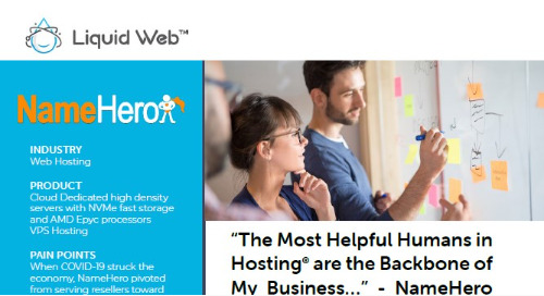"""""""The Most Helpful Humans in Hosting® are the Backbone of My Business..."""" - NameHero Case Study"""