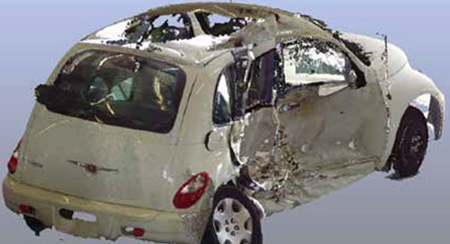 Benefits of 3D laser scanning in vehicle accident reconstruction