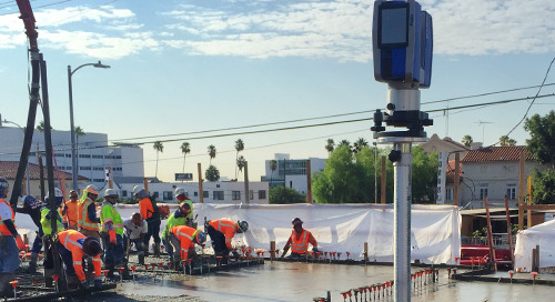 Laser scanning wet concrete for quality control