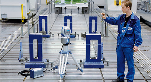 Laser Trackers shrink aircraft-sized manufacturing problems