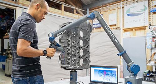 Velocidad, precisión y facilidad de uso con 8-Axis ScanArm