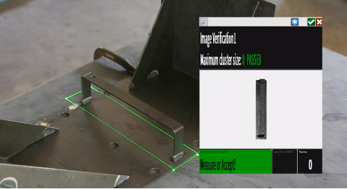 Verificação durante o processo usando o Tracer SI e BuildIT Projector