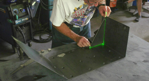 Use laser-guided assembly to reduce scrap & rework like Welder Bob