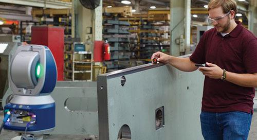 Melhorando a qualidade e as taxas de produção com um Laser Tracker