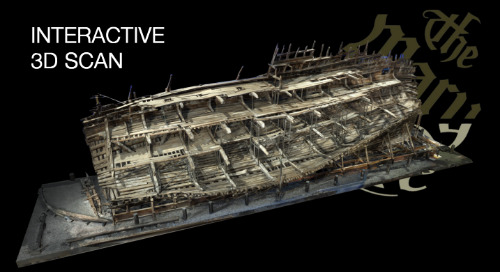 Warship, The Mary Rose, recorded with 3D laser scanning