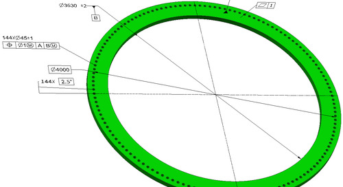 GD&T in wind power: position tolerances in wind turbine tower flanges