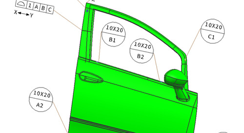 GD&T in automotive assembly: using datum targets to locate surfaces