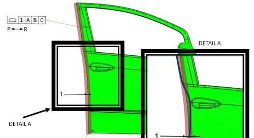 GD&T in automotive assembly: surface profile tolerances